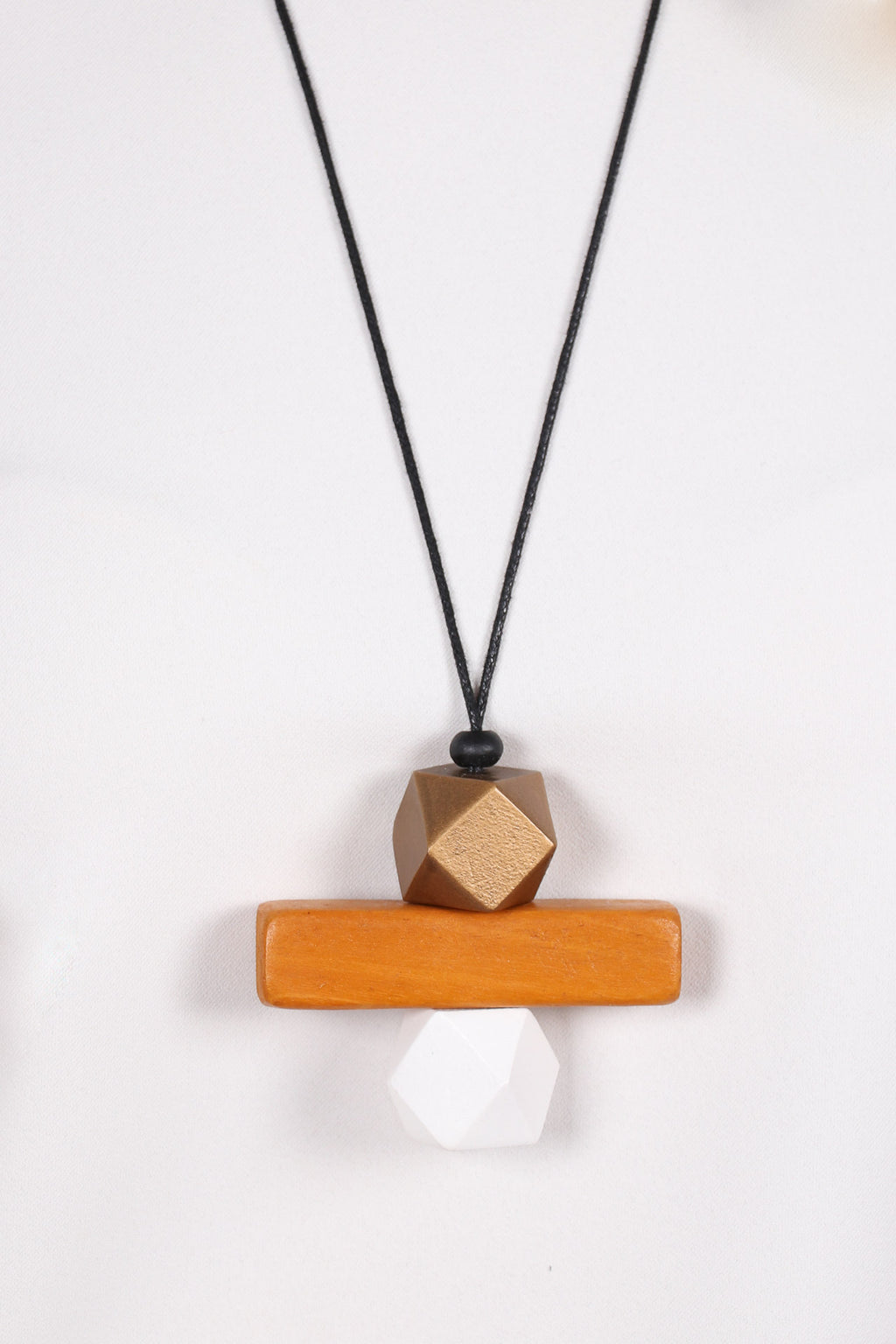 Elements Necklace Bronze/Wood/White