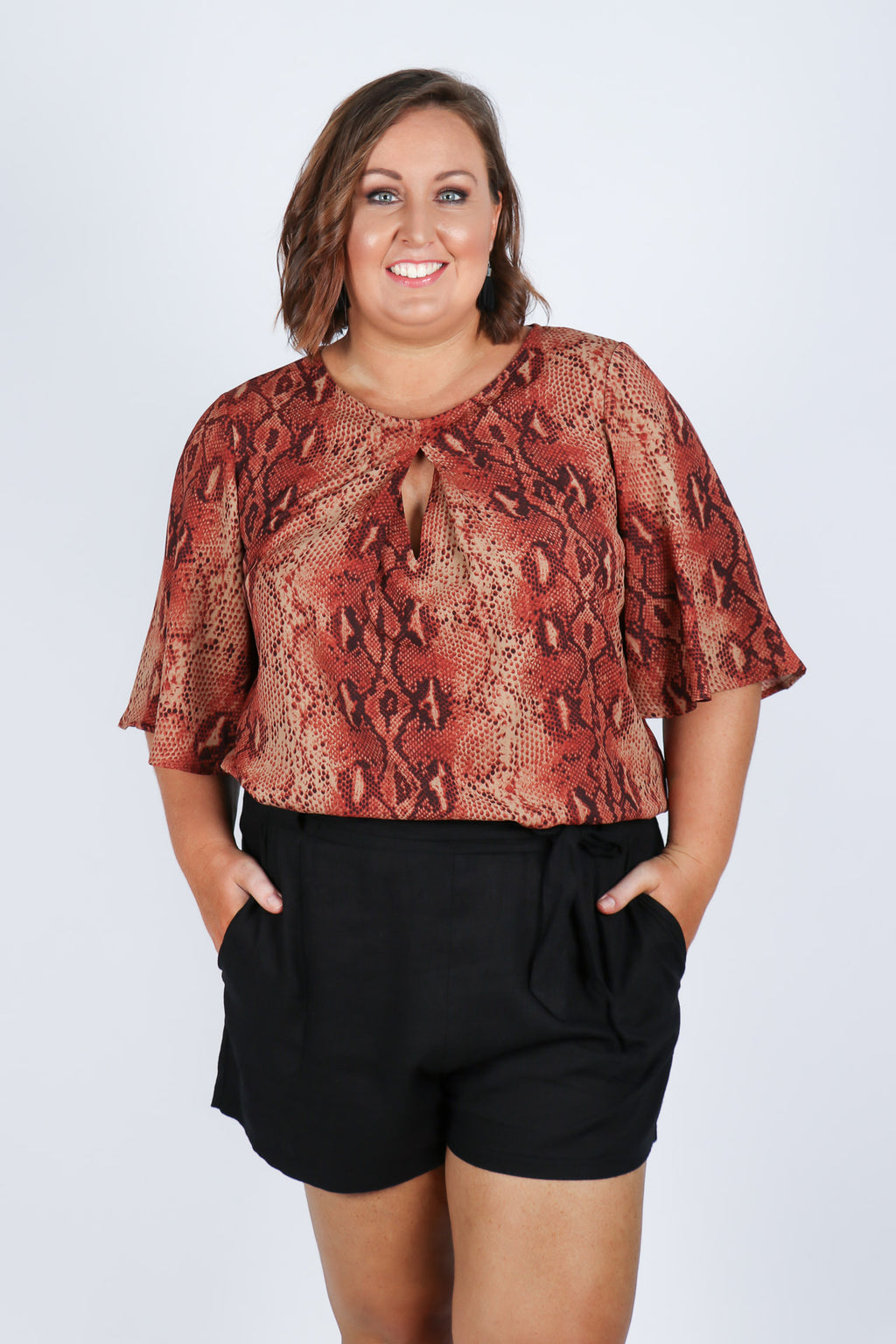 Savoy Top in Red