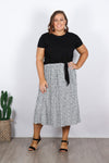 Carter Skirt in White Spot