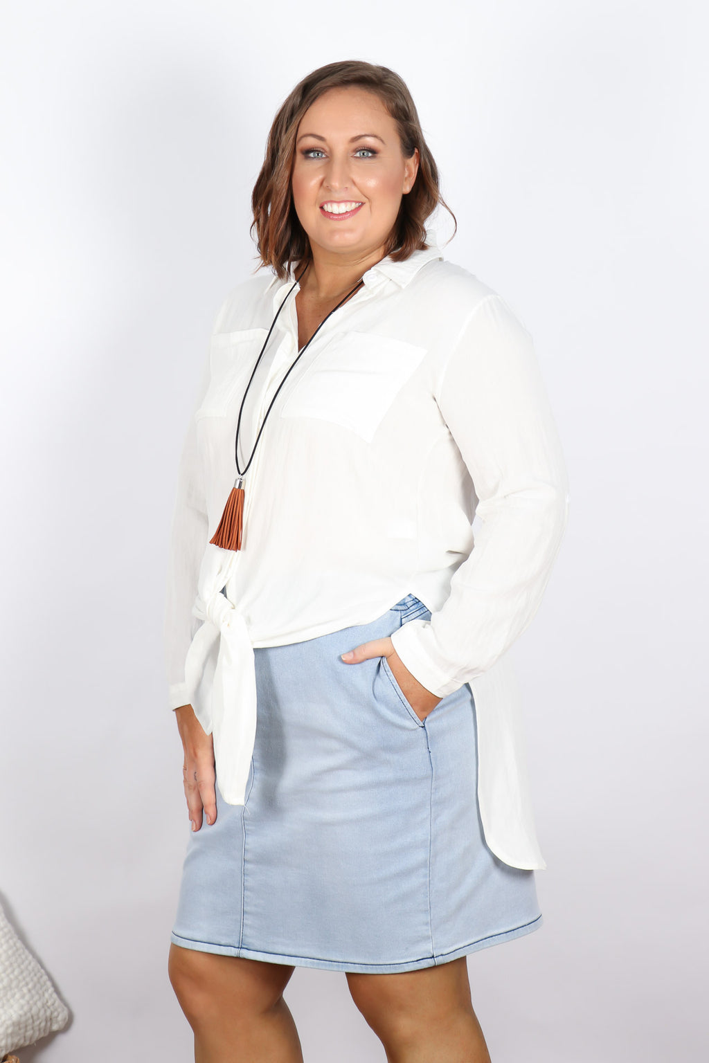 Zeta Blouse in White