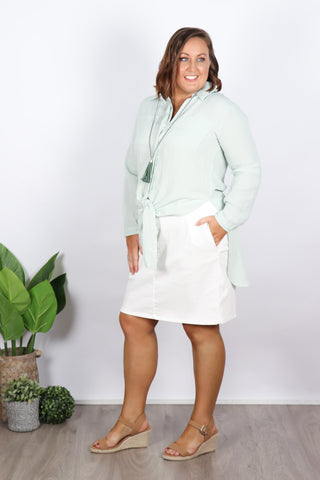 Zeta Blouse in Soft Sage