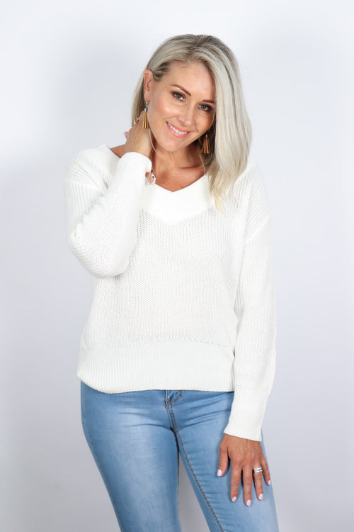 Hudson Knit in White