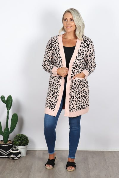Bedford Animal Cardi in Blush