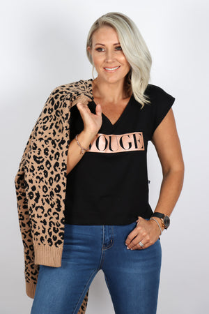 Vouge Tee in Black