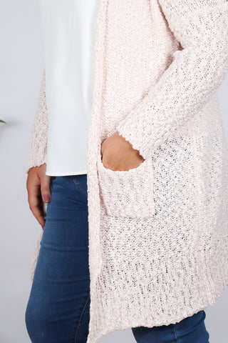 Impressions Knit Cardi in Pearl Pink