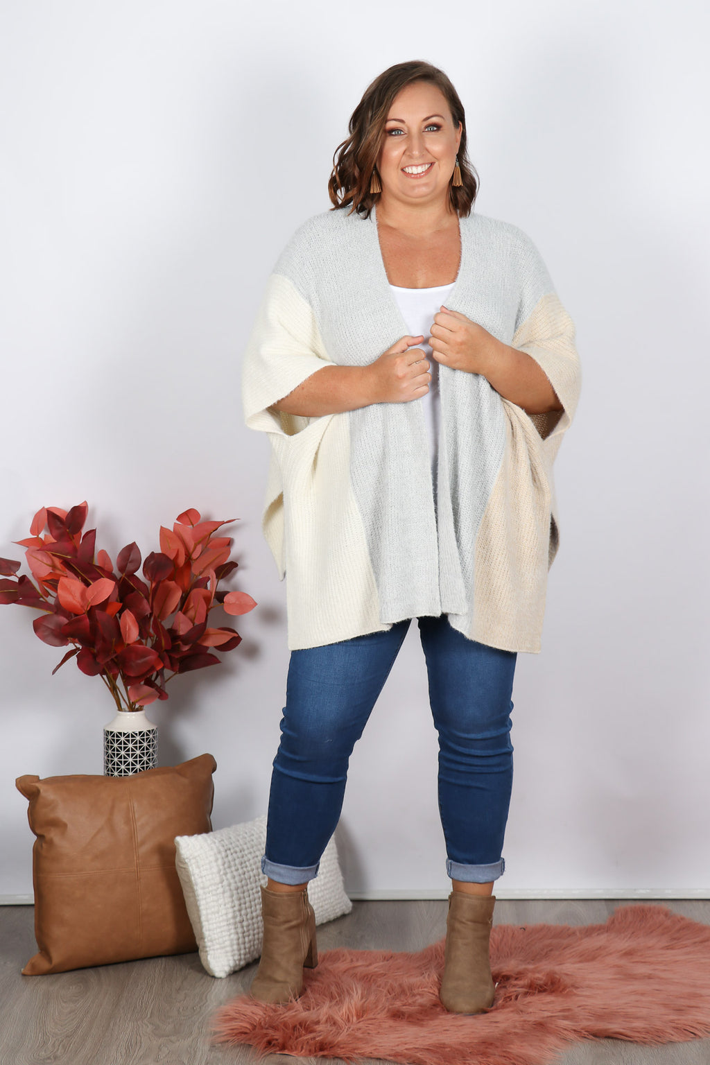 Crystal Cardi in Neutrals