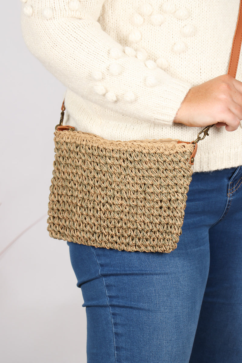 Poppy Sling Bag in Pistachio