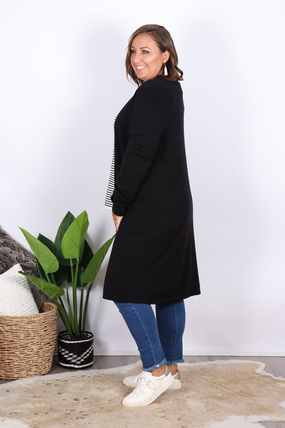 Leah Knit Cardigan in Black