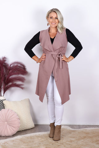 Pioneer Vest in Dark Blush