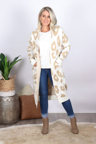 Forefront Cardi in Cream/Beige