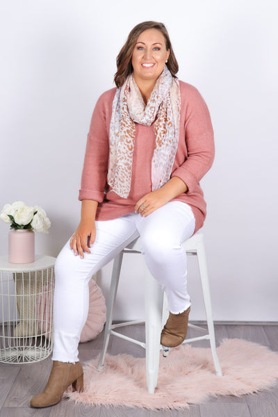 Croydon Knit in Dark Blush