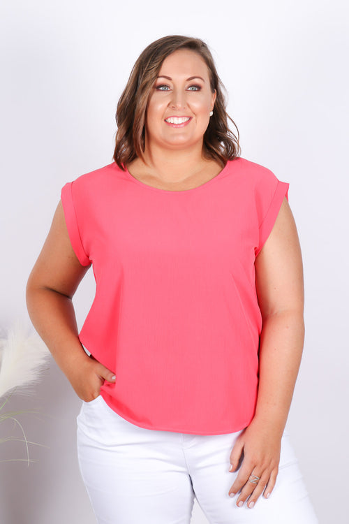 Basic Lover Top in Watermelon