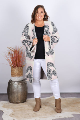 Oxley Cardi In Pink