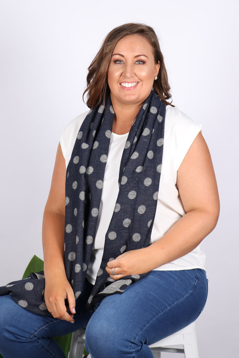 Chambers Reversible Scarf in Navy