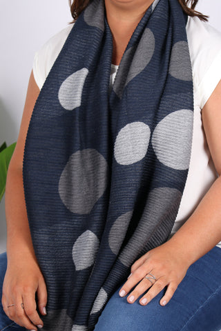 Mid Town Scarf in Blue/Grey