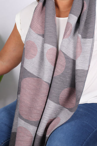 Mid Town Scarf in Pink/Grey