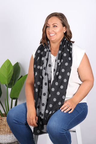 Chambers Reversible Scarf in Black