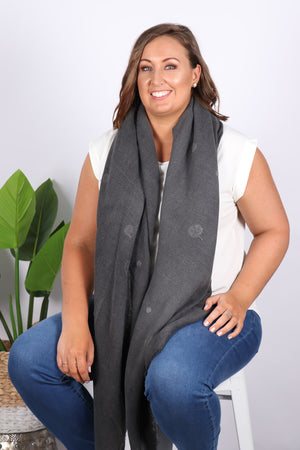 Willow Dot Scarf in Grey