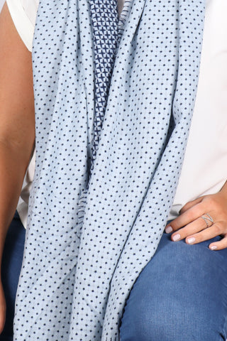 Houston Scarf/Wrap In Blue