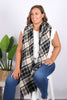 Barclay Scarf/Wrap in Black/Blue