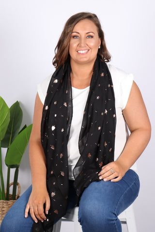 Ashlyn Scarf in Black