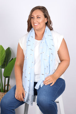 Ashlyn Scarf in Blue