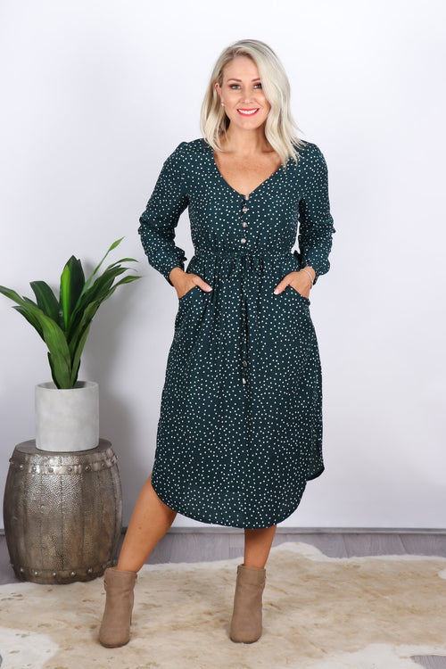 Bridie Dress in Green