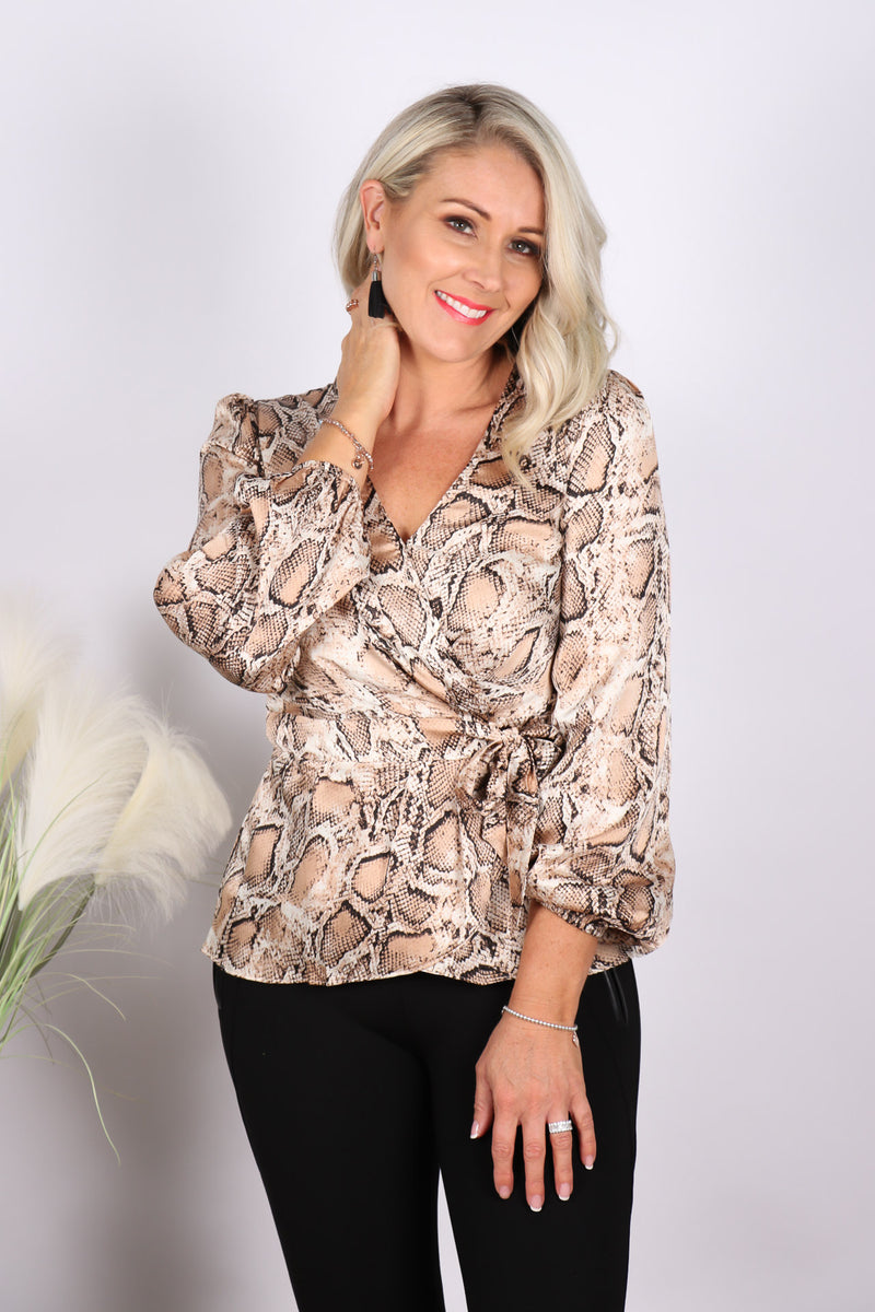 Hannah Blouse in Snake