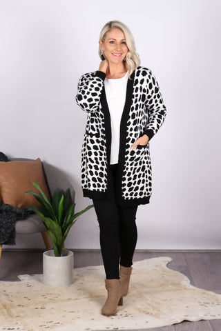 Bedford Cardi in Black/White