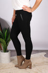 Xander Ponte Pants in Black