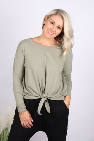 Willow Knot top in Moss