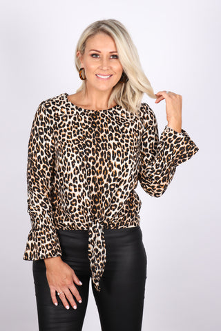 Brazen Top in Leopard