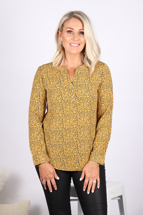 Jenna Blouse in Mustard