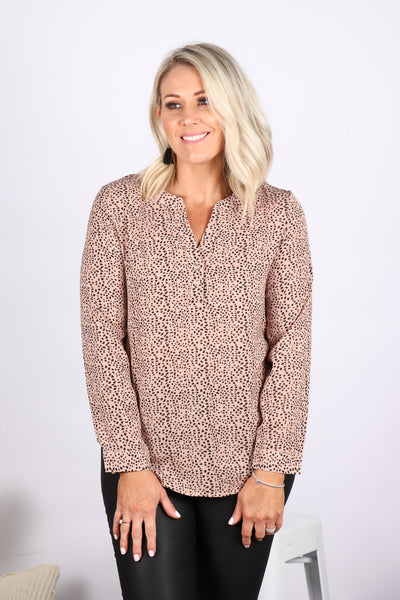 Jenna Blouse in Blush