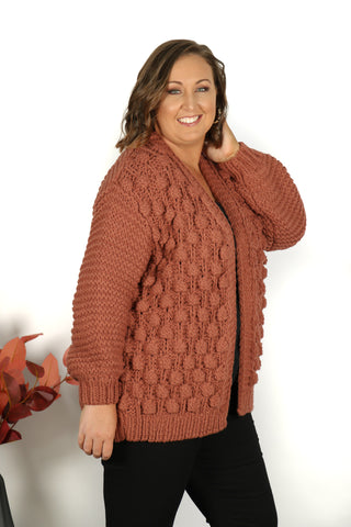 Winterberry Cardi in Wine