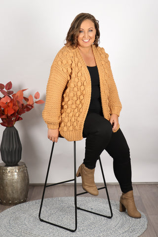 Winterberry Cardi in Caramel