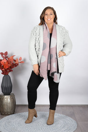 Winterberry Cardi in Grey