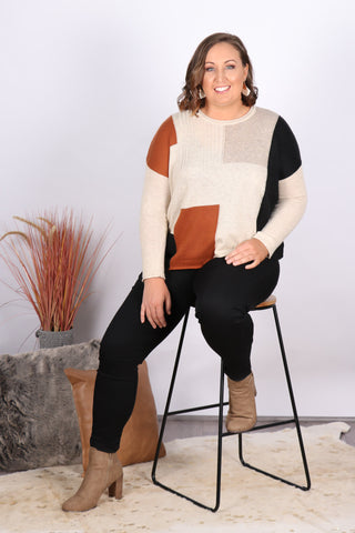 Mabel Knit in Tobacco Mix
