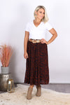 Carter Skirt in Rust