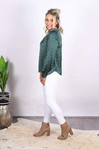 Envision Blouse in Emerald
