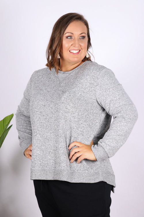 Ryder Cosy Sweater in Storm