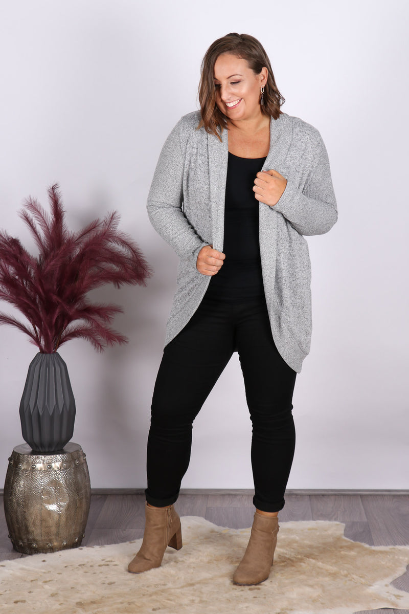 Bo Cosy Cardigan in Storm