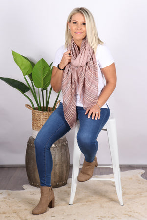 Indulge Scarf in Dusty Pink