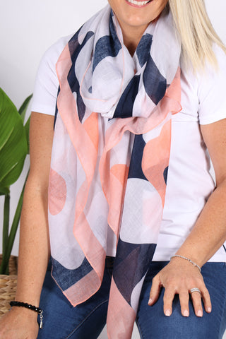 Cardinia Scarf in Navy