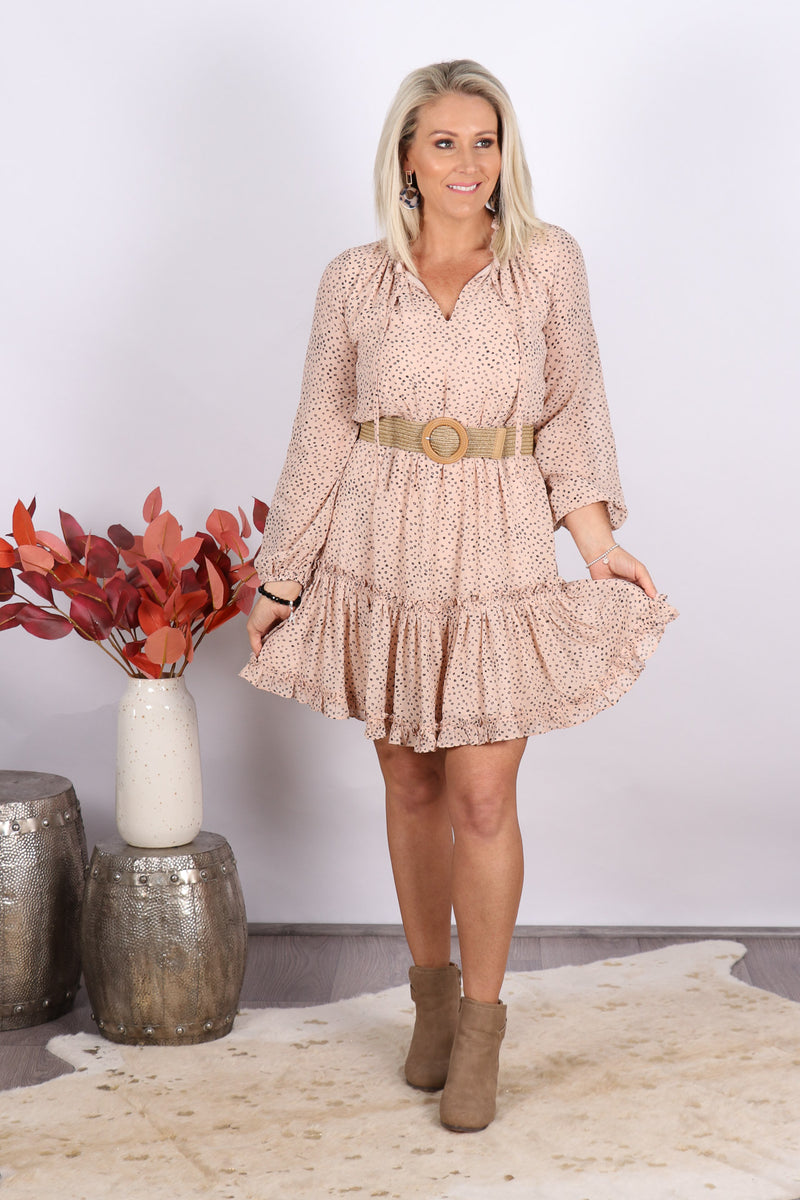 Hannah Dress in Nude