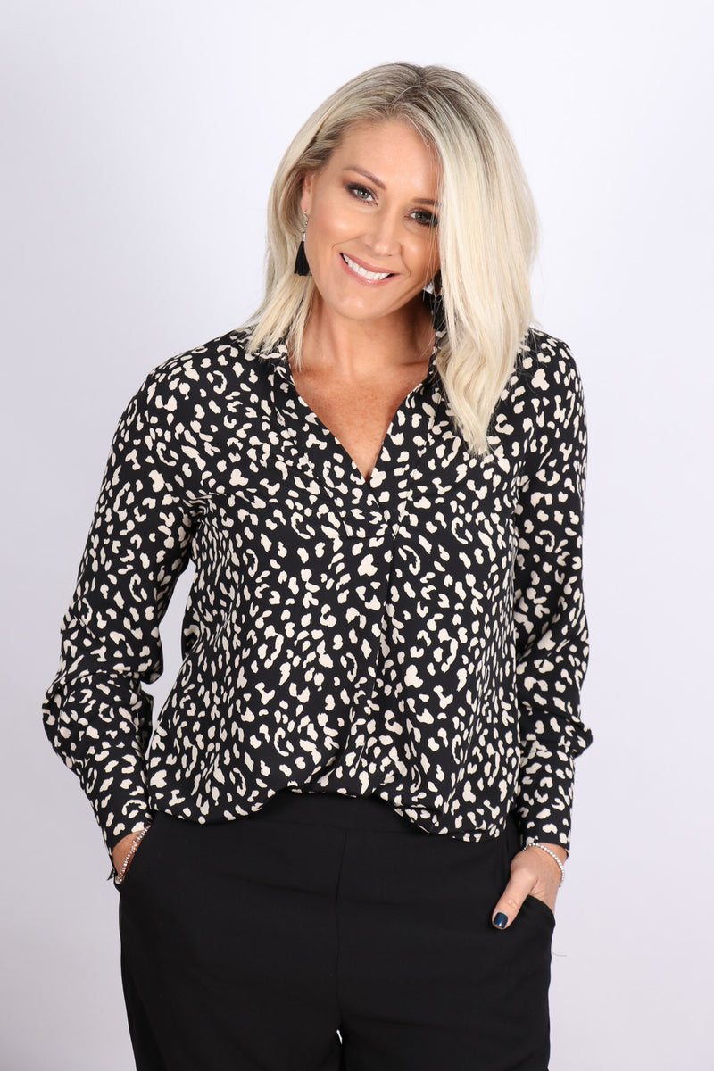 Honours Blouse in Black