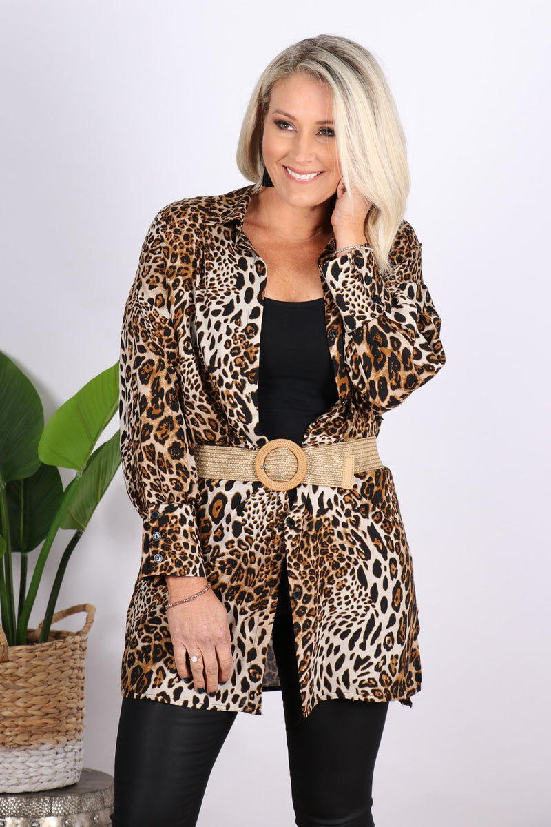 Blazing Shirt in Leopard Print