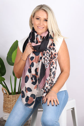 Poppi Scarf in Blush/Beige