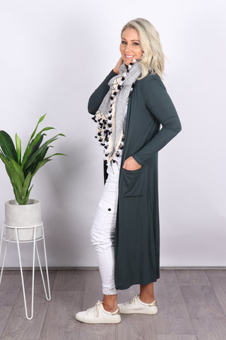 Bligh Lightweight Cardi in Emerald