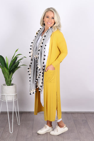 Bligh Lightweight Cardi in Mustard